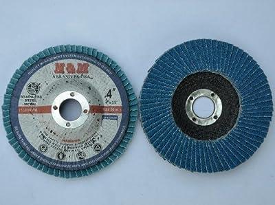 "10pcs Premium FLAP DISCS 4"" x 5/8"" Zirconia 120 grit Sanding Wheel Angle Grinder tool"