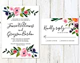 Unique Wedding Invitation, Floral Wedding Invitation, Spring Flowers Invite