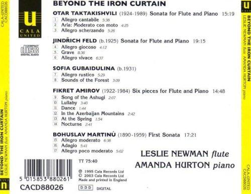 Beyond the Iron Curtain: Flute Music by Martinu, Gubaidulina, Feld, Taktakishvili and Amirov by Cala