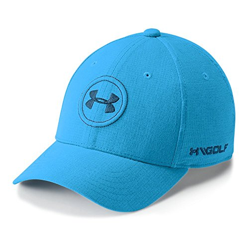 Cloth Youth Cap (Under Armour Boys' Golf Official Tour Cap, Canoe Blue (713)/Moroccan Blue, Youth Small/Medium)