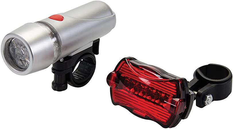 Silverline 912132 Luces para Bicicleta con 5 LED, 2 Piezas ...