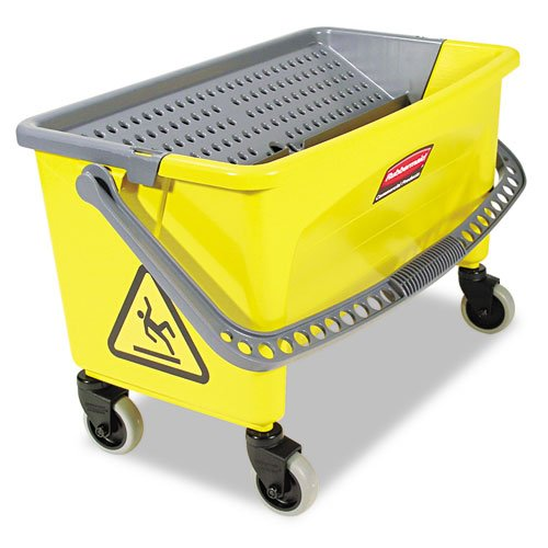 Rubbermaid Commercial HYGEN HYGEN Press Wring Bucket for Microfiber Flat Mops, Yellow - Includes one each. by Rubbermaid by Rubbermaid