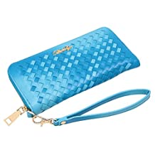 Aitbags Classic Soft Women Leather Wristlet Women's Wallet Zippered Around Purse