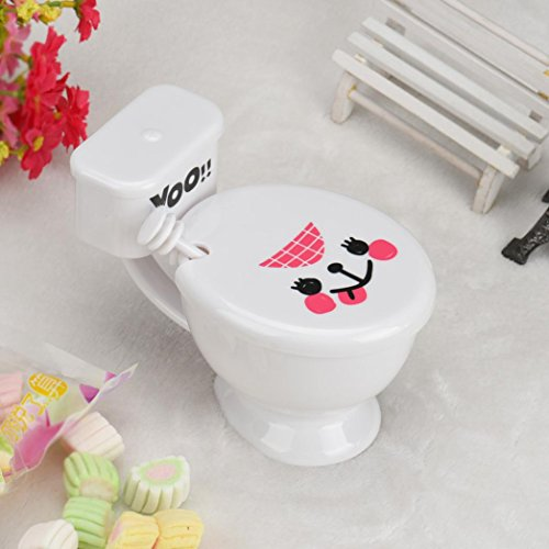 DZT1968 Creative Funny Toilet Seat Cup with Lid Spoon Cute Lovers Coffee Mug (White)
