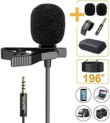 GoorDik micrófono de solapa profesional de 16 pies, micrófono de ...