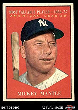 Amazoncom 1961 Topps 475 Most Valuable Player Mickey