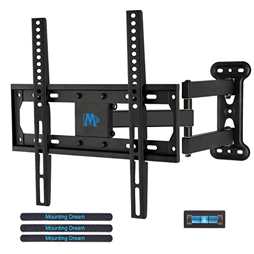 Screen Tilting Wall Mount (Mounting Dream MD2377 TV Wall Mount Bracket for most of 26-55 Inch LED, LCD, OLED Flat Screen TV with Full Motion Swivel Articulating Arm up to VESA 400x400mm and 60 lbs with Tilting)