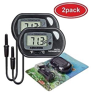 AUTIDEFY LCD Digital Aquarium Thermometer Fish Tank Water Terrarium Temperature (2 Pack) 6