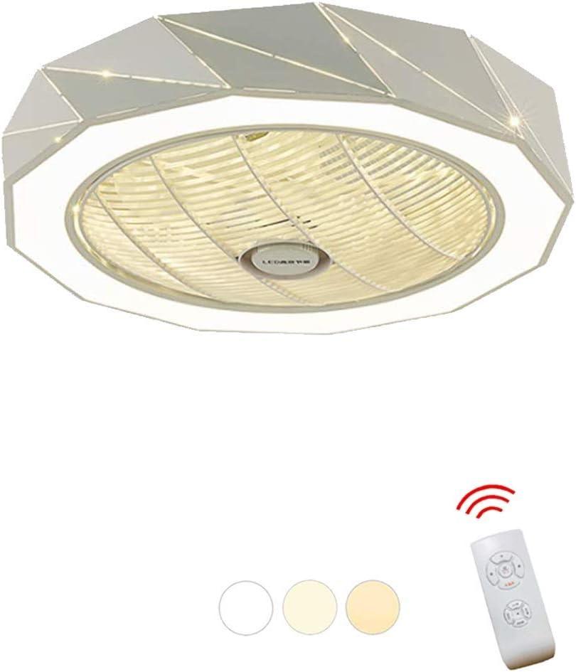 XYJGWXDD Ventilador de Techo de araña Moderna for Sala de Estar Dormitorio con Kit de luz LED y Control Remoto Luz de Ventilador de Techo Invisible, Cambio de Tres Colores