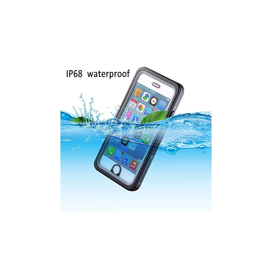 iPhone 6S Plus Waterproof Case, IP68 Certified Extreme Durable Waterproof Shockproof Full Sealed Cover with Piano Coating Perfect Fit for iPhone 6 Plus/6s Plus