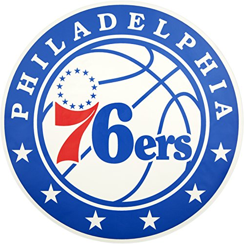 Applied Icon, NBA Philadelphia 76ers Outdoor Small Primary Logo Graphic Decal ()