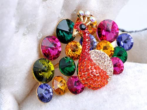 Alilang Swarovski Crystal Elements Rainbow Colors Regal