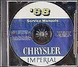 1968 Chrysler Repair Shop Manual on CD for Imperial Newport 300 New Yorker