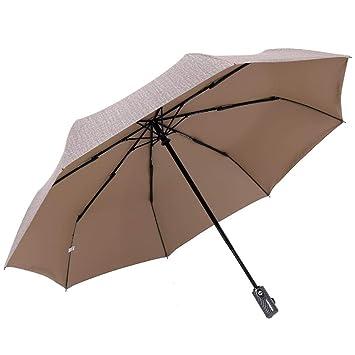 G-lucky Triple Pliegue Paraguas Soleado - Paraguas de Negocios automático para Hombres,95 Protección UV sombrilla de Sombra: Amazon.es: Hogar