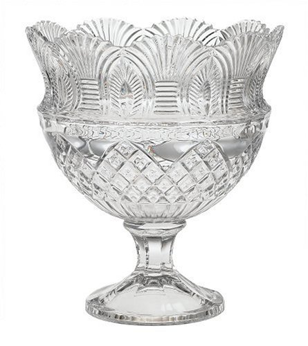 Christmas Tablescape Decor - Godinger Coquille Crystal Pedestal Bowl
