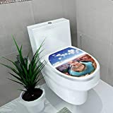 Auraise-home Bathroom Toilet seat Sticker Decal The Horseshoe Bend Near Page Arizona Decal Sticker Vinyl W14 x L14