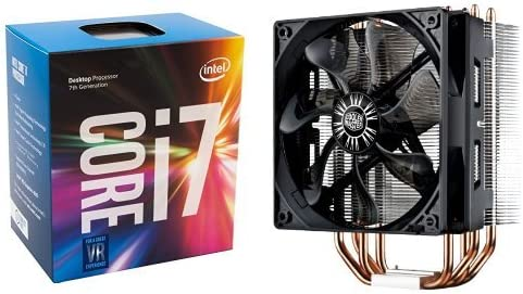 Intel 7th Gen Core I7 7700k Desktop Processor Bx80677i77700k Cooler Master Hyper 212 Evo Cpu Cooler With 120mm Pwm Fan Bundle Amazon Ca Computers Tablets