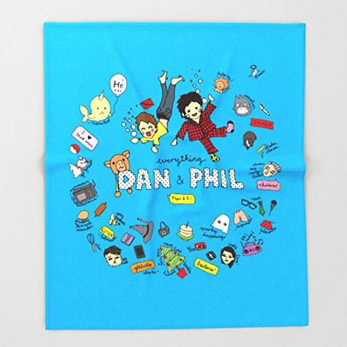 Society6 The Vortex of Everything Dan and Phil Throw Blankets 51