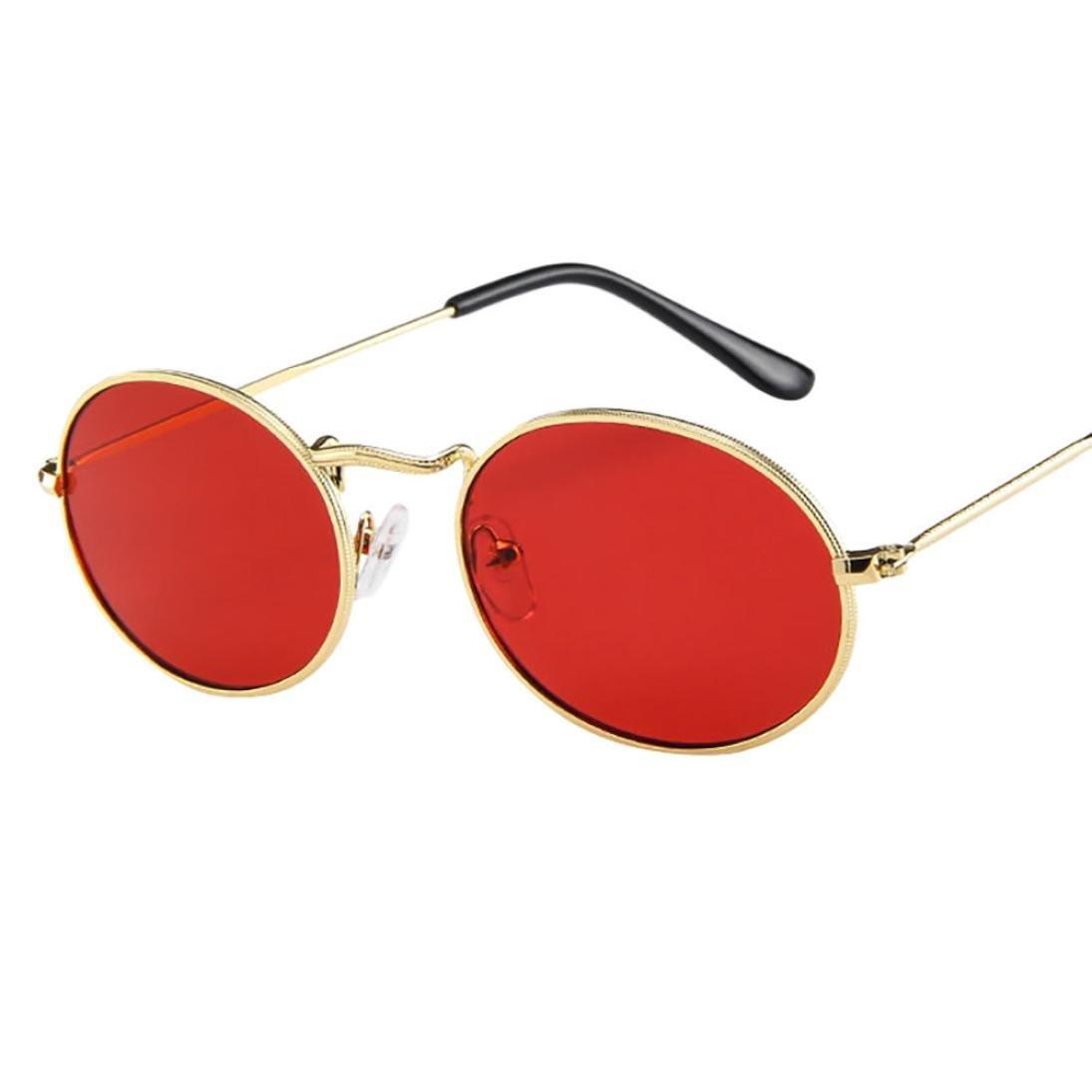 Lunettes de soleil Unisexe Longra Vintage Retro ovale Des lunettes de soleil  Ellipse Métal Lunettes à monture Lunettes de Soleil Polarisées Lunettes de  ... 37085e967680