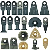 20 x TopsTools WXK20 OMT Mix Blades for Rockwell F30 F50 F80 Sonicrafter AEG Ryobi Worx Multitool Multi Tool Accessories
