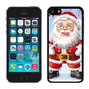 Iphone 5C Case,Christmas Glasses Santa Grandpa Iphone 5C Black Case,Apple 5C Cover Case