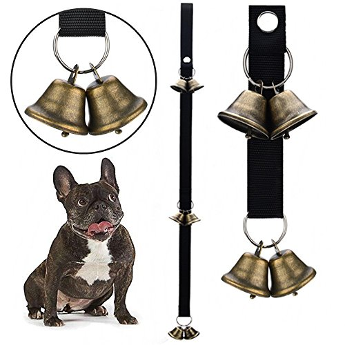 QUXIANG Dog Bells for Potty Training Dog Bells for Door Potty Bells and Housebreaking Your Doggy (Bell Jingle Door)