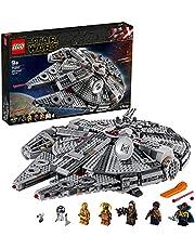 LEGO 75257 Star Wars Millennium Falcon Byggsats Finn och Chewbacca Minifigurer Rymdskepp Byggklossar