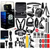 GoPro HERO8 Black Digital Action Camera - Waterproof, Touch Screen, 4K UHD Video, 12MP Photos, Live Streaming, Stabilization - with 50 Piece Accessory Kit - All You Need Bundle