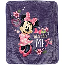 Disneys Minnie Mouse Plush Throw Blanket, Adorable Me, Twin Size 60x80 inches
