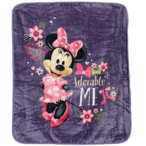 Disneys Minnie Mouse Plush Throw Blanket, Adorable Me, Twin Size 60x80 inches (Adorable Mouse)