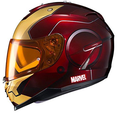 Amazon.es: HJC Helmets Marvel IS-17 Unisex-Adult Full Face IRONMAN Street Motorcycle Helmet (Red/Yellow, Large) by HJC Helmets