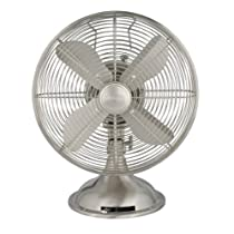 Hunter 90400 12-Inch Portable Table Fan Brushed Nickel