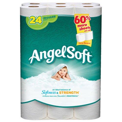 Angel Soft Bath Tissue 24 Regular Rolls Buy Usa Quality