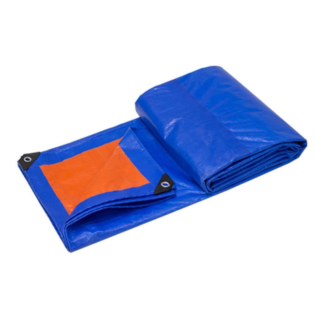 24 NANWU Toile de prougeection contre la pluie BÂche de prougeection contre le soleil BÂche de prougeection BÂchei Bupei, Bleu + Orange, Epaisseur 0.35mm, 180g   m2, 14g. Options de camping pour un voyage en p