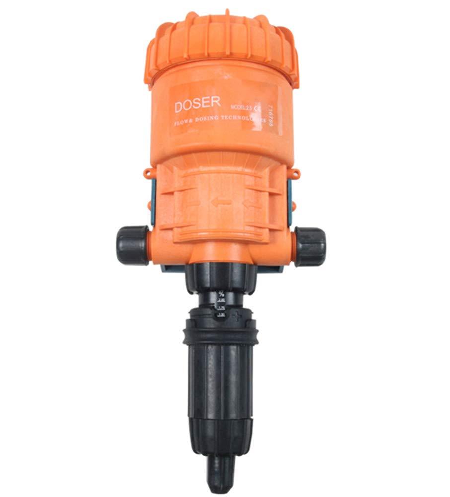 NEWTRY 0.2~2% Chemical Fertilizer Injector Dispenser Drip Irrigation Liquid Flow Doser Dosing Pump for Garden Livestock Farm Industry (0.2-2%)
