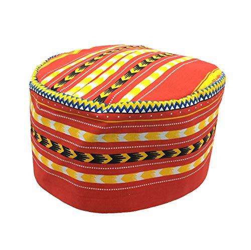 Vipada Handmade African Dashiki Hat Kente Pattern Kufi