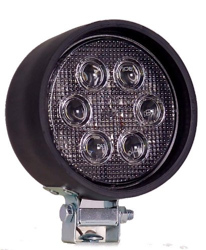 Maxxima MWL-11HL 6 LED 4'' Round Super Bright Rubber Housing Work Light 750 Lumens by Maxxima
