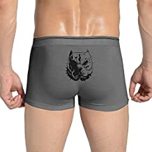 Tianshui Funny Elastic Close-Fitting Cool Pitbull Love Fight Knickers White For Men