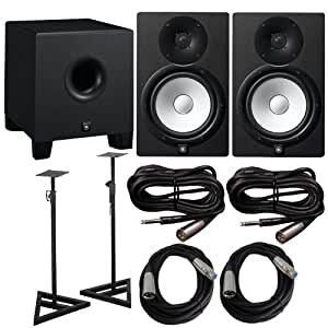 Yamaha hs 8 pair with hs8s 8 in powered for Yamaha home theatre customer care number