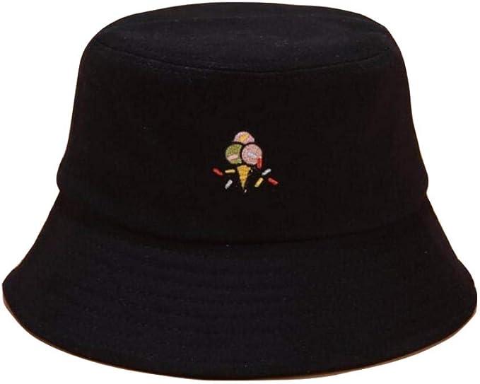 Sombrero del Cubo del Bordado Unisex Lindo Gorro de Helado Hip Hop ...
