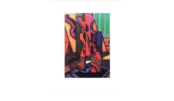 Wee Blue Coo Juan Gris Violin Guitar Old Master Impresión del Arte ...