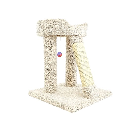 New Cat Condos Premier Elevated Cat Bed, Beige