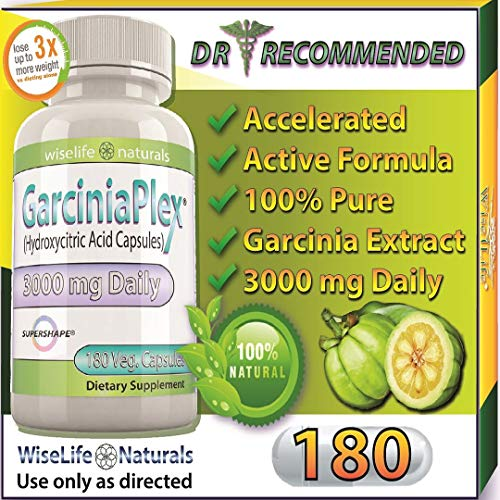 Best Fat Burner, Appetite Control, Metabolism Boost Weight Loss Formula, 180 Caps Pure Garcinia Cambogia Extract HCA, 1500 mg 3000mg Best Formula of Diet Pill Kit That Works for Men and Women Over 40