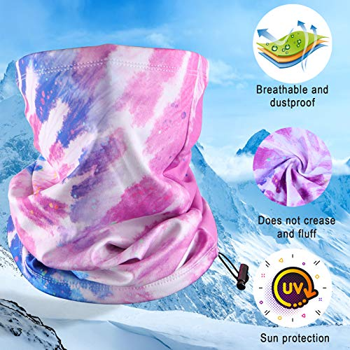 2 Pack Winter Face Mask Neck Gaiter,Cold Weather Breathable Washable Neck Warmer Scarf Balaclava for Running, Skiing,Cycling Motorcycle Riding Other Outdoor Sports,Mens or Womens Unisex Black