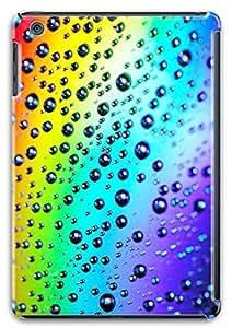 iPad Mini 2 Case, Apple iPad Mini with Retina Display Case Rainbow Raindrops 3D Hard PC Slim-Fit Protective Case for iPad Mini Retina