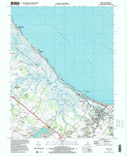 Lewes De Topo Map  1 24000 Scale  7 5 X 7 5 Minute  Historical  1997  Updated 2000  27 X 22 In   Paper