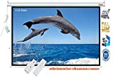 Elcor Imported Motorised Projector Screen, Size: - 8Ft(Width) X 6Ft(Height), 120 Inches Diagonal In 4:3 Format, Supports 3D and 4K Viewing, Gain 1.2