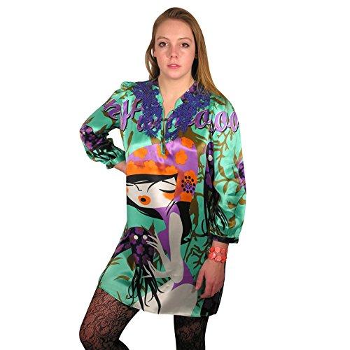 Charmeuse Silk Tunic (Ooh-la-la Tunic in silk satin by Royal Silk - L (39-40) - Silk Dress)