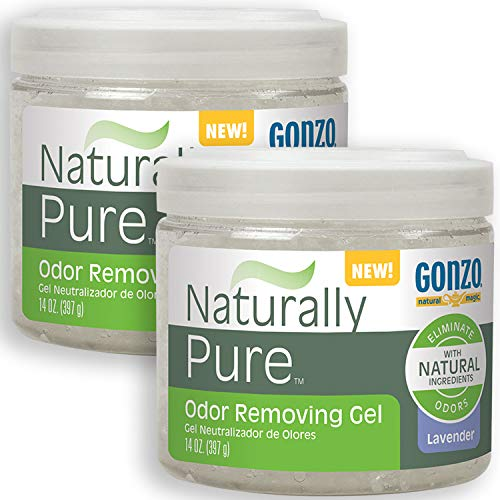 Gonzo Natural Magic Naturally Pure Odor Removing Gel 14 Ounce (2 Pack) Works On Pet