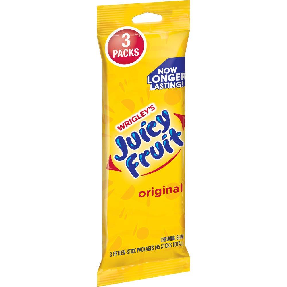 Juicy Fruit Original Chewing Gum, 45 ct